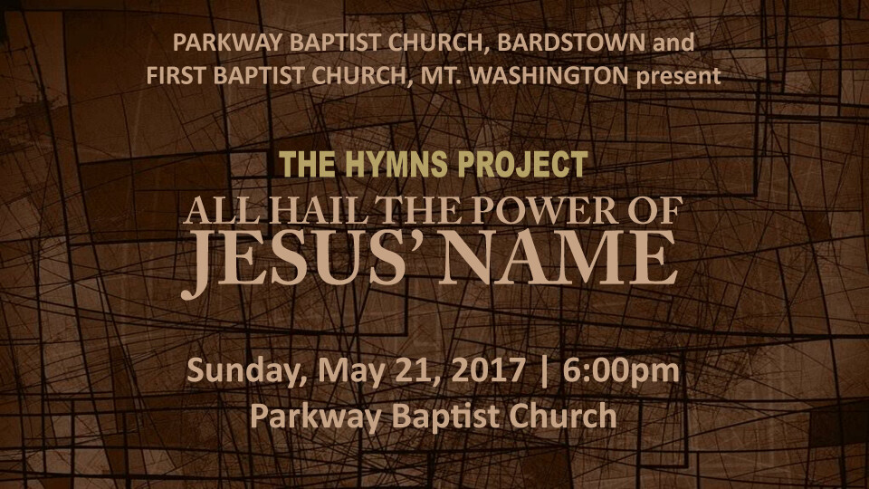 The Hymns Project: All Hail The Power of Jesus